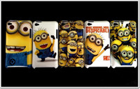 Wholesale Despicable Me Case For ipod touch itouch4 minions Cute Cartoon Hard Plastic Cover