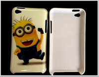 Wholesale Hot selling Despicable Me Case Cover For ipod touch itouch4 minions Cute Cartoon Hard Plastic Cover