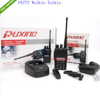 Wholesale 1pcs Puxing PX Walkie Talkies VHF Radio MHZ FM Transceiver PX777 Walkie Talkie Earphones lk
