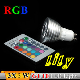 led light bulbs GU10 3w rgb lamp with controller led spotlights gu10 mr16 e27 e14 bulb
