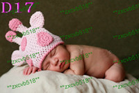 Wholesale New Style Baby Crochet Hat Children Knit Girls Boys Pink Deer Hat baby handmade crochet Beanie Hats