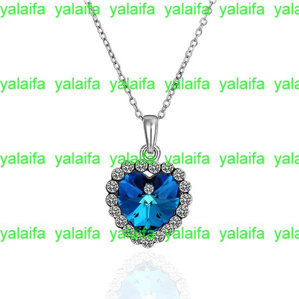 Buy variety styles, free mix,1 18 k gold plated,Rhinestone Crystal inlay pendant Necklaces, fashion jewelry,LKN18KRGPN482