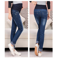 Wholesale Maternity Jeans abdominal pants Trousers Autumn pregnant women prop belly pants can be adjusted pregnant clothing wear
