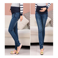 Wholesale Maternity jeans Pregnant women Jeans abdominal pants Maternity Wear autumn fashion elastic waistband pants trousers bottoms