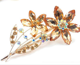 womens jewelry rhinestone Duck Clip Banana Clips Hair Barrette Hairpin clasps accessory mixed color #3014