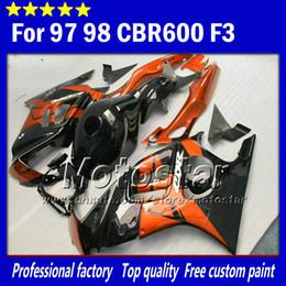 For honda CBR600 F3 fairings set CBR 600 F3 1997 1998 CBR 600F3 fairing 97 98 glossy orange red white black