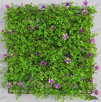 Wholesale Cheap artificial Plastic grass mat with flowers boxwood mat kissing grass mat wedding party event de MYY5414