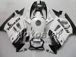 Customize free for honda CBR600 F3 fairings set CBR 600 F3 1997 1998 CBR 600F3 abs fairing 97 98 glossy white black Repsol