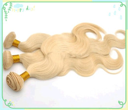 Wholesale Brazilian Blonde Body Wave Virgin Hair Weave extensions Hot Sale Wholesle Price Rosa and Luffy hair Products High Quality