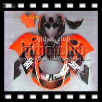 Acheter 98 gsxr carénage orange noir-7gifts de SUZUKI + Tank GSXR750 96 97 98 99 00 Q3A57 R750 Orange noir GSXR 600 750 1996 1997 1998 1999 2000 GSXR600 GSX R600 Carénage