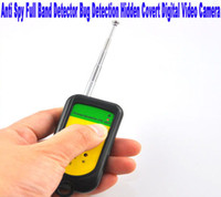 Wholesale New Arrival New Anti Spy Signal Bug RF Detector Hidden Camera GSM Device Finder Mhz