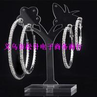 White basketball hoop sizes - Paparazzi Basketball Wives silver Hoop Earrings online Crystal Rhinestone women Earrings size to mm can choose