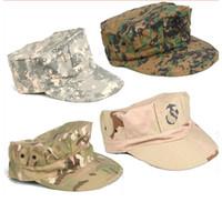 Wholesale UNISEX COMBAT OCTAGONAL CAP CAMOUFLAGE TACTICAL HATS SUN HAT