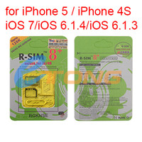 Wholesale Unlock Card for iPhone iPhone S iOS iOS7 RSIM8 R SIM Unlocking K Nano G WCDMA CDMA GSM Unlock G G