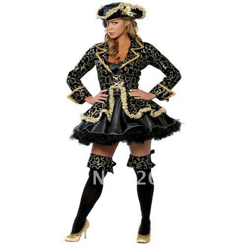 plus Size Sexy Pirate Costumes,Women Halloween Costume With Hat ...