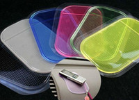 Wholesale Colorful Magic Car Stick Pad For Cell Phone MP3 MP4 GPS Strong Viscous Force PU Anti slip Mats
