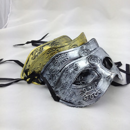 Wholesale 16 Color NEW Arrival Jazz Mens Mask Halloween Masquerade Masks Venetian Dance party Mask WY35
