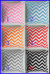 Wholesale 04 Sweet chevron printed baby pillow covers infant cotton pillow covers