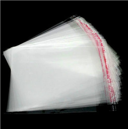 Wholesale MIC Clear Self Adhesive Seal Plastic Bags x9cm Jewelry Packaging Display Jewelry Pouches Bags