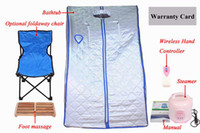 Wholesale HOT SELLING FOLDING DETOX PORTABLE SAUNA STEAM EASY RELAX MASSAGE EXPERINCE t
