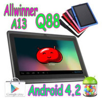 Wholesale DHL UPS FEDEX EMS Q88 Ultrathin Inch Tablet PC Android AllWinner A13 Ghz GB WIFI MID PZ