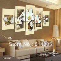 Graphic vinyl PVC Animal Thick Textured ,Oversized 100% Handpainted Modern Flower Oil Painting On Canvas ,Top Home Decoration JYJHS017