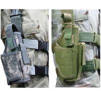 acu leg holster - Brand New Tactical Drop Leg Pistol Holster Pouch Bag ACU CP BLACK SAND GREEN