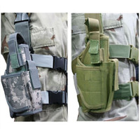 Wholesale Tactical Drop Leg Pistol Holster Pouch Bag ACU CP BLACK SAND GREEN