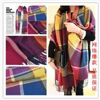 Wholesale Long Grid Warm Scarf Color Grid Thick Warm wool Shawl cm Freeshipping X0006