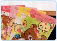 Wholesale 24PCS Rilakkuma Bear File Folder Documents File Bag Stationery Filling Products School Office Storage File Pouch Holder