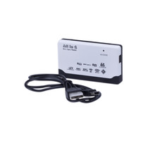Wholesale NEW All in one USB Card Reader CF xD SD MINI TF MMC MS C408