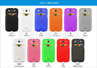 Plastic For Samsung For Christmas Colorful New Armor ShockProof with Credit Card Slot Pouch hard PC Plastic Case Cover For Samsung Galaxy S3 I9300 free shipping