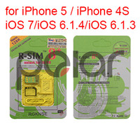 Wholesale Unlock Card for iPhone iPhone S iOS iOS7 RSIM8 R SIM Unlocking K Nano G WCDMA CDMA GSM Unlock G G CA0021