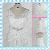 Wholesale Plus Size Tulle and Satin Appliques Beaded Lace up A Line Wedding Dresses Sale Spring Summer Cheap Full Figure Beach Wedding Dresses