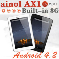 Wholesale 7 Inch Quad Core tablet pc Ainol AX1 MTK8389 Android Bluetooth GPS Numy Built in G Phone Call Tablet GB MP Camera Min pc