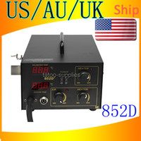 Wholesale US AU UK Ship New Pro in1 ESD PLCC BGA SMD Soldering Rework Station Hot Air Iron D PLUS Tips