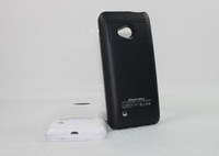 Wholesale drop shiping one external backup battery case for HTC ONE M7