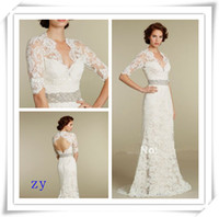Wholesale New Wedding Dresses bridal gowns Train Poet Sleeve Sweetheart Wedding dresses mermaid Dresses