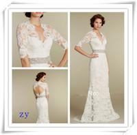 Новые свадебные платья свадебные платья Поезд 1/2 Поэт рукава Sweetheart 2015 Свадебные платья русалка платья