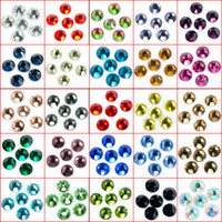 Wholesale Jet Black High Quality Crystal FlatBack Non Hot Fix Rhinestones Nail Art SS4 SS5 SS6 SS8 SS10 SS12 SS16 SS20