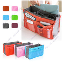Wholesale 10 New Women Travel Insert Handbag Organiser Purse Large liner Organizer Tidy Bag Pouch