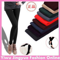 Wholesale Fashion Women Winter Women Candy Colors Ankle length Velvet Leggings Thicken Pants