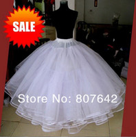 Wholesale Wedding Bridal Gown Dress Petticoat Underskirt Crinoline White Wedding Accessories One Size Fit All AB329