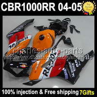 7gifts+ Cowl+ Tank 100% Injection For HONDA CBR1000RR 04- 05 Re...