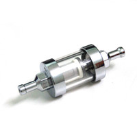 Wholesale 5 pieces per Chrome Fuel Filter quot In amp Out Glass Fuel Gas Line Filter Short type