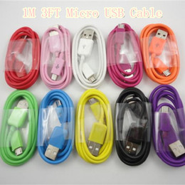 Colorful Micro usb cable 1M 3Ft for samsung S3 S4 i9500 data sync charge free shipping 100pcs lot