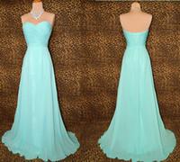Real Photos light blue wedding dress - Custom Made Floor Length Pleated Chiffon Sweetheart Light Blue Bridesmaid Dresses Wedding Party Gown Evening Dress DH1226