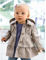 best coat brands - Europe America Brand Baby Kids Coat Double Deck Baby Hoodies Tench Coat Best Quality Fashion And Popular QS498