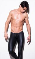 al por mayor cuero n2n-N2N imitación de nylon sedoso charol pantalones lisos pantalones suaves artificiales
