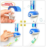 Wholesale HOT SALE Household Blue Beautiful Automatic Auto Easy Press Toothpaste Squeezer Dispenser